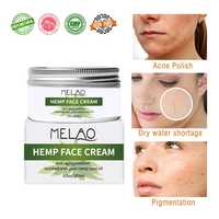 Hidratante Facial de aceite de semilla de cáñamo orgánico Natural para el cuidado de la piel sensible seca y aceitosa antiarrugas producto de la venta caliente