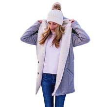 Womens Winter Coat Parka Cotton Warm Female Fashion Mid Long Wadded Outwear Ladies Basic Solid Slim Sleeve