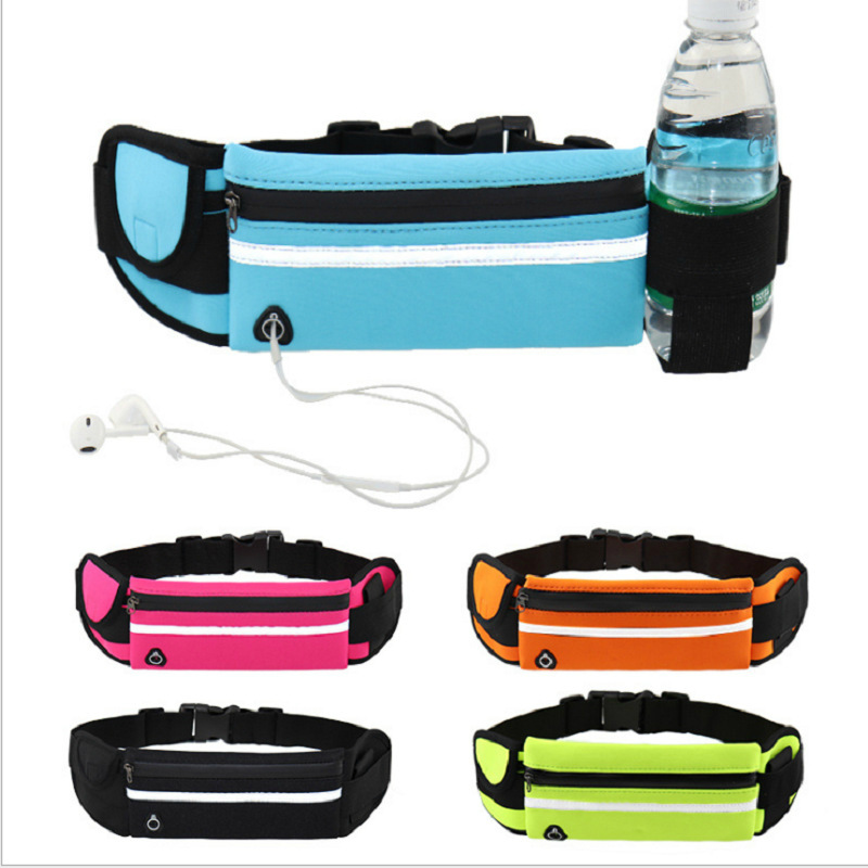 New Outdoor Sport Waist Bag Mobile Phone Anti-Theft Multi-functional Running Belt Waterproof-Men And Women Hidden Bottle Waist P