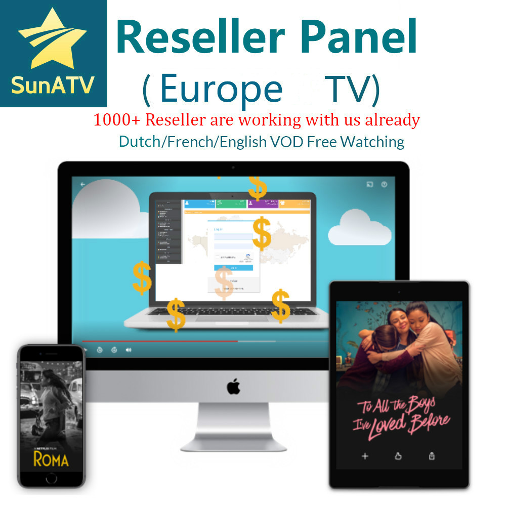SUNATV Reseller Panel Netherland IPTV French IPTV Arabic ENGLISH Support Android M3u Enigma2  7000 Live+VOD XXX
