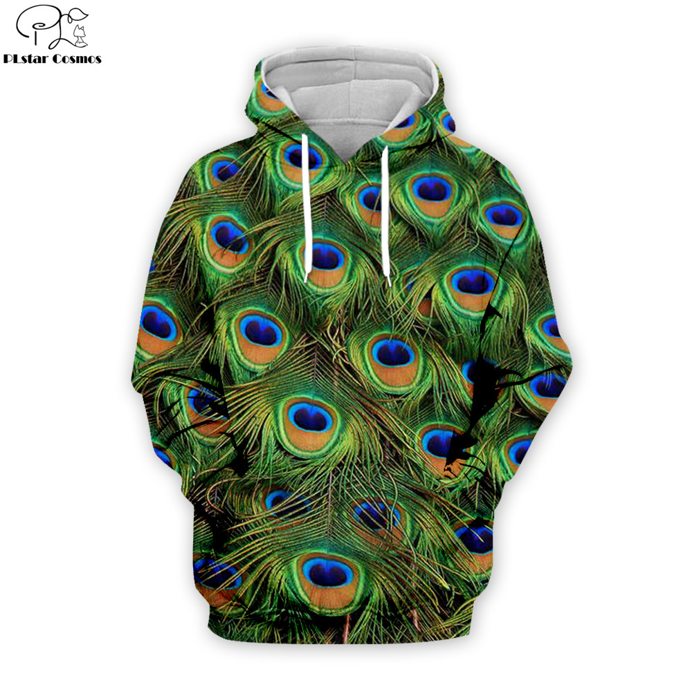Newest peacock Fashion hoodies Animal 3D Print Men Women Casual Tracksuits Pullover Hoody Sweatshirt Drop shipping PE003