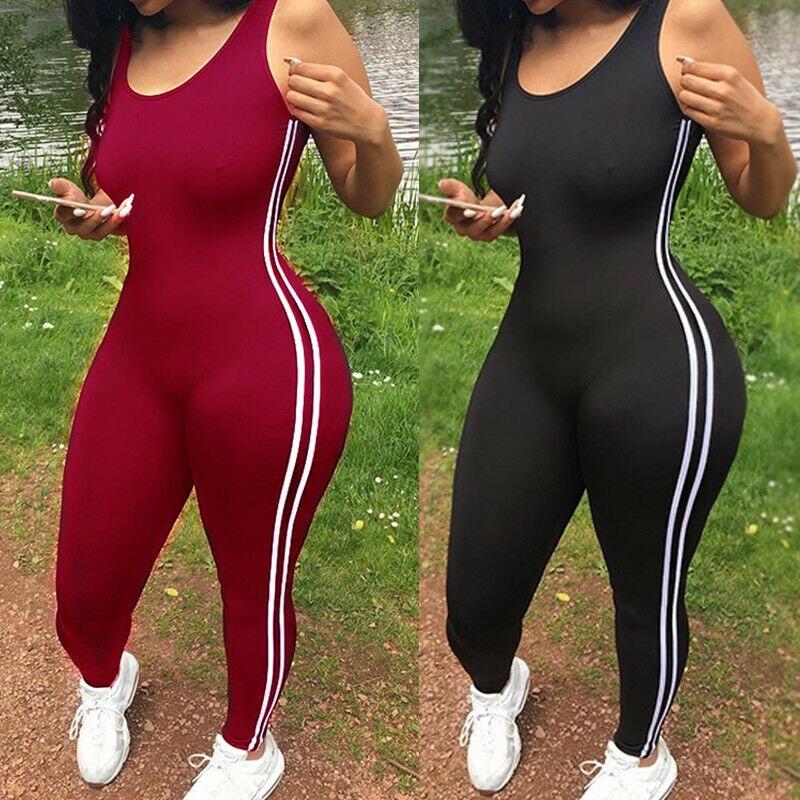 Fashion New Ladies Hot Sale Women Sport Gym Running Fitness Leggings Pants Jumpsuit Athletic Romper
