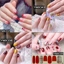 1 Sheet Beauty Full Cover DIY Self Adhesive Wraps Decals Gradient Color Shiny Nail Sticker Art Tips Manicure Decorations Fashion