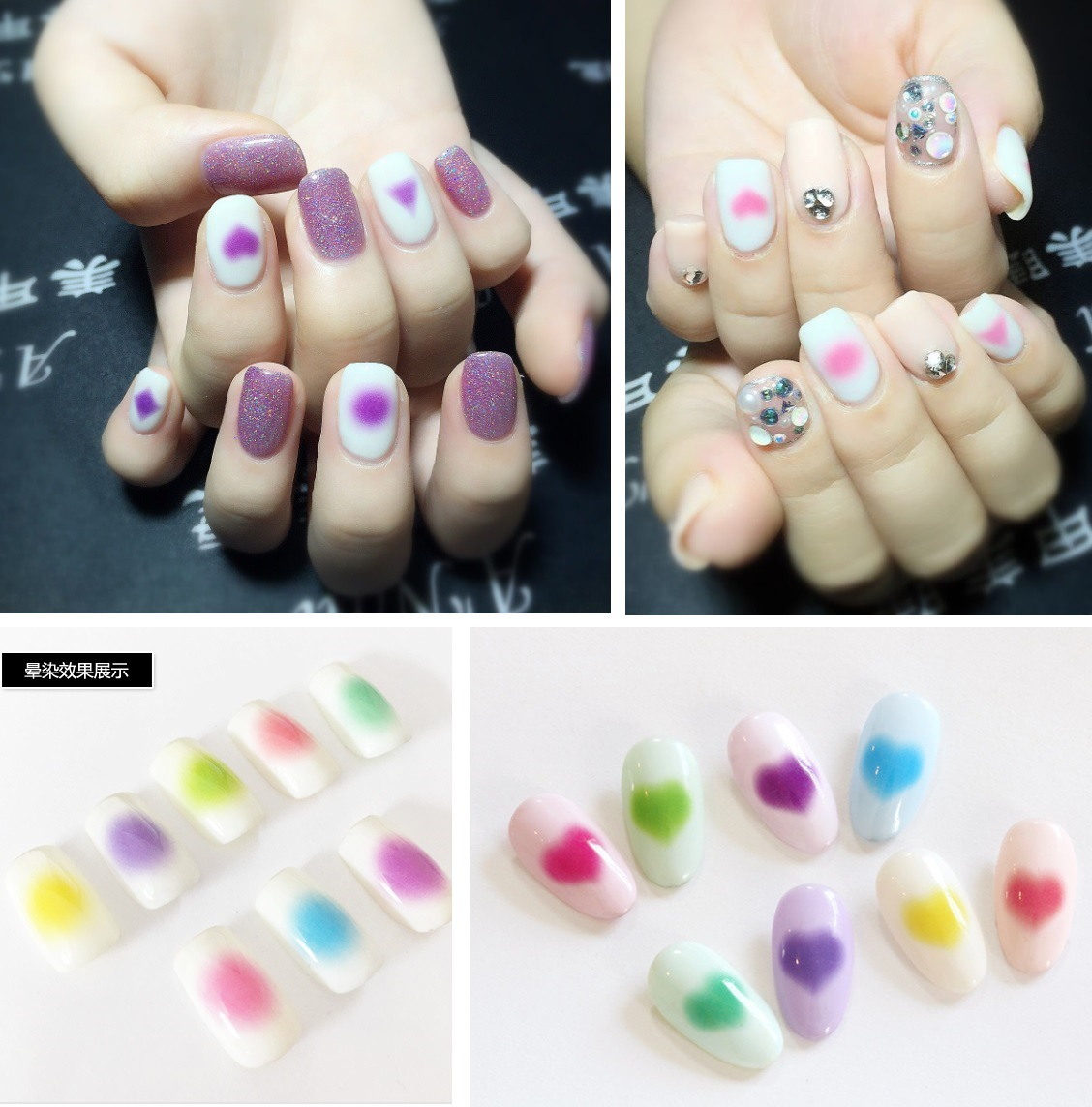 Blush Watermarking Adhesive Paper Flower Stickers Nail Sticker Japanese-style Nail Sticker Ds319-320