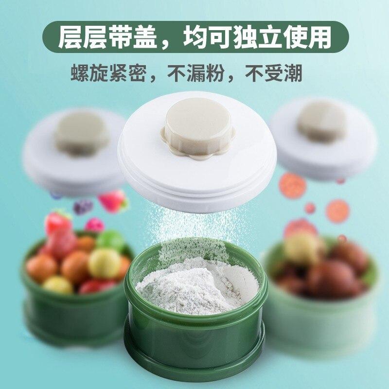 Baby Infant Milk Box Nursing-Packed Portable Small Large-Volume Sealed Jar Dual Purpose Packing Three Layer Lattice