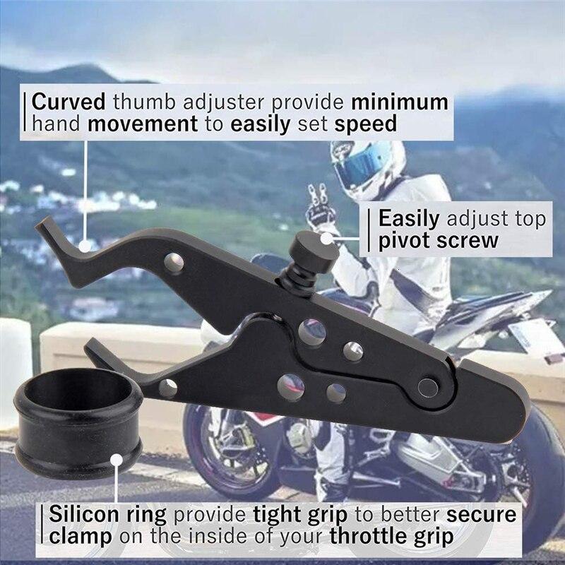 1x Universal Preto Motocicleta Cruise Control Acelerador Trava Auxiliar Retentor #