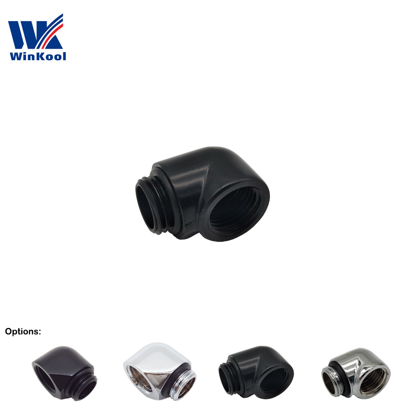 WinKool 90 Degree  Male To Female Angle Fitting Adapter With G1/4