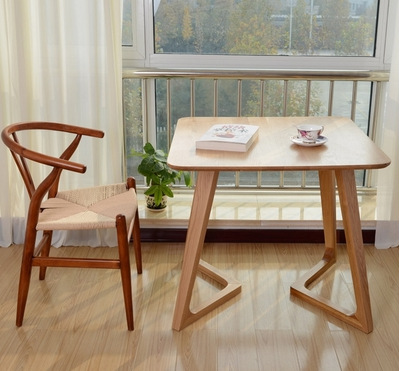 Nordic Solid Wood Round Dining Table Small Apartment Dining Table Negotiating Coffee Table White Oak Dining Table