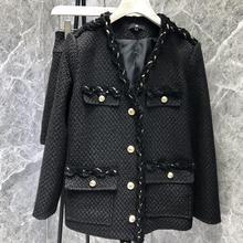 Tweed Jacket women's jacket coat ladies Woolen Coat weave