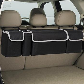 Organizator bagażnika samochodowego uniwersalny duża pojemność regulowany Backseat torba do przechowywania oxford tanie i dobre opinie CN (pochodzenie) Bagażnik Box Torba 600D encryption waterproof Oxford cloth