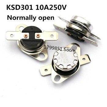 2 uds/KSD301 10A 250V normalmente abierto 160, 170, 175, 240, 200, 245, 220 de 250 grados 160C 170C 175C 240C 200C 245C 220C 250C 10A250V