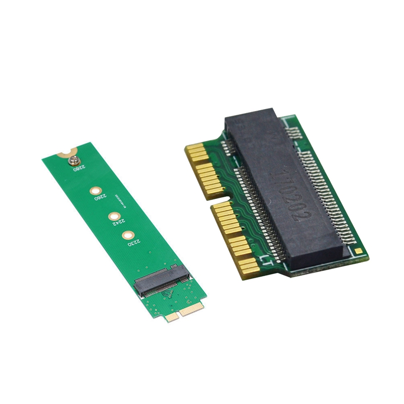 New 2 Pcs Convert Card: 1 Pcs <font><b>12</b></font> & <font><b>16</b></font> <font><b>Pin</b></font> Ngff M.2 Nvme <font><b>Ssd</b></font> Convert Card Adapter Card & 1 Pcs M.2 Ngff <font><b>Ssd</b></font> <font><b>to</b></font> A1369 A1370 Conver image