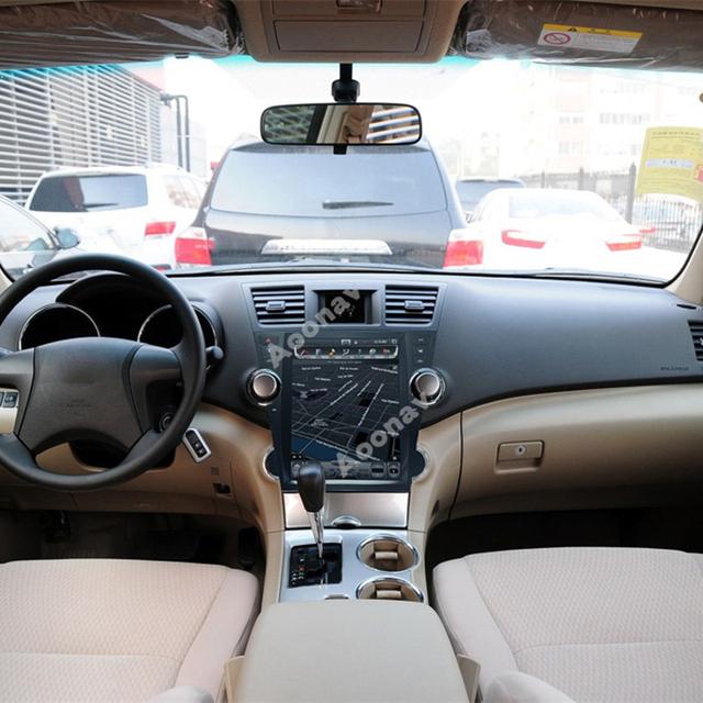 AOONAV 12 1 cal samochód radio odtwarzacz DvD pionowy ekran dla TOYOTA highlander 2008-2013 wsparcie carplay czysta wokół kamera tanie i dobre opinie JIUSCAN CN (pochodzenie) podwójne złącze DIN 12 1inch 4*60W Android 9 0 DVD-R RW DVD-RAM VIDEO CD JPEG 1920*1080 bluetooth