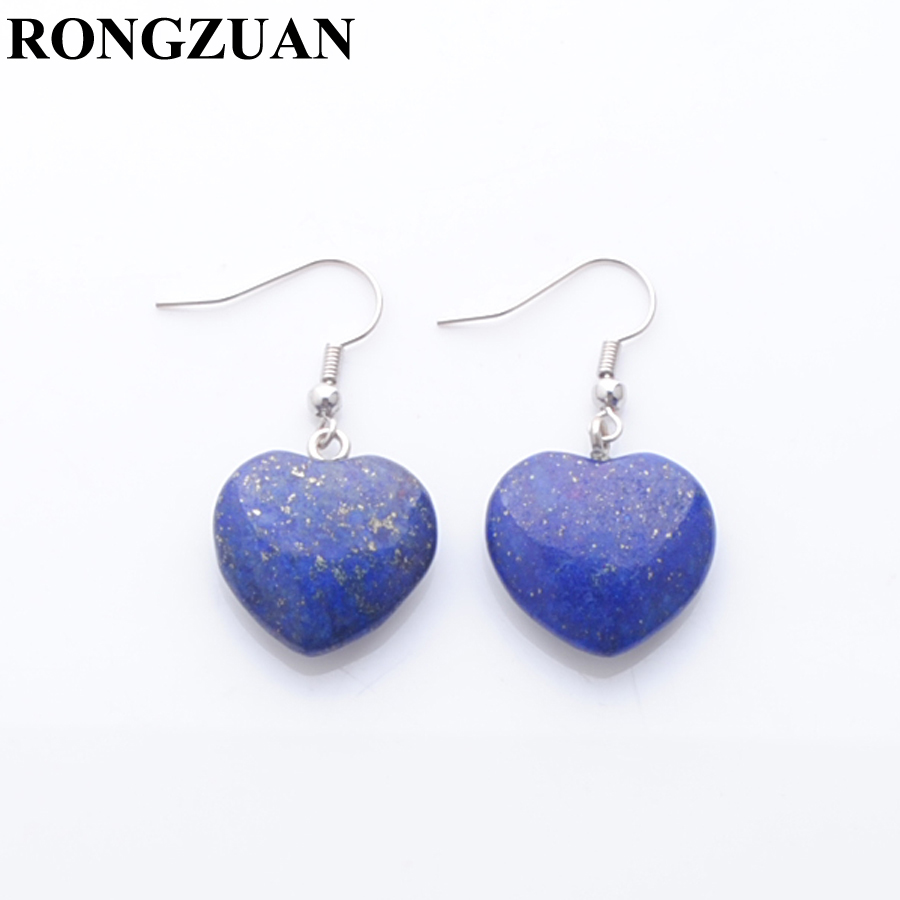 Beautiful Blue Lapis Lazuli  Stone Heart Pendant Blue Lapis Lazuli Stone Heart
