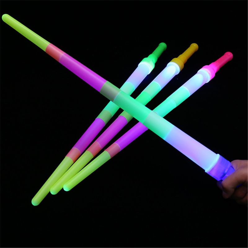 Scalable Rainbow Lightsaber Toys For Children Saber Luminous LaserSword Light-up