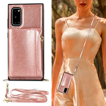 Luxury Leather Wallet Strap Cord Crossbody Phone Case For Samsung Galaxy S20 S10 S9 Plus Ultra Note 9 20 10 Pro Lanyard Cover