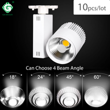 40W מודרני COB מסלול אור Dimmable זרקור רכבת בגדי חנות זרקור מנורות גופי Windows LED מסלול תאורת מערכת