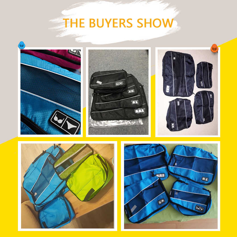 Soperwillton Verpakking Cubes Nylon Travel Organizer Bag Ademend Mesh Plunjezak Mannen Vrouwen Reizen Bagage Organizer Set