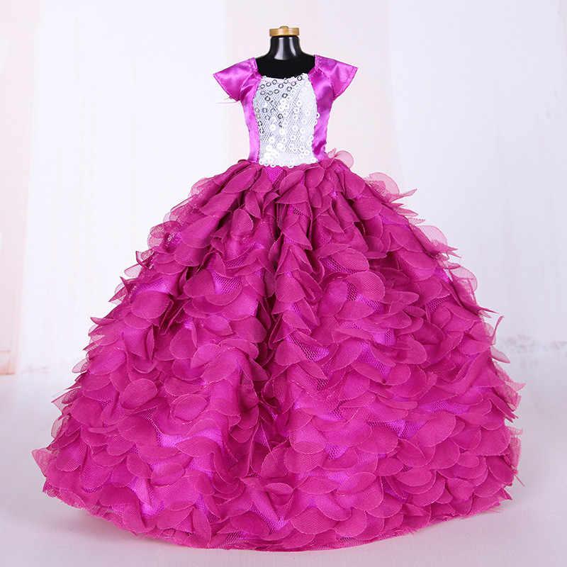 فستان زفاف أبيض أنيق مصنوع يدويًا للأميرات لعام 1/6 فستان بتصميم زهور للدمية ملابس ملابس متعددة الطبقات إكسسوارات دمى