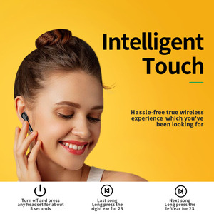 Image 5 - TOMKAS Freebud TWS kablosuz Bluetooth kulaklık 5.0 gerçek kablosuz kulaklık kulaklık Stereo Bluetooth mikrofonlu kulaklıklar telefon için