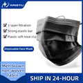 20-200 Pcs 3 Layer Disposable Mask Non-woven Mascarillas Dust Face Mask Thickened Disposable Mouth Mask Dust Filter Safety