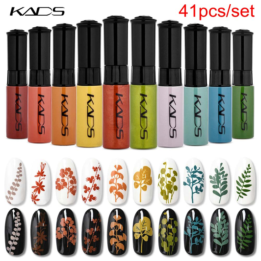 KADS 41pcs/set Nail Stamping Polish 10g Nail Lacquer Manicure Polish For Nail Stamping Plate Print & Drawing Nail Art Varnish