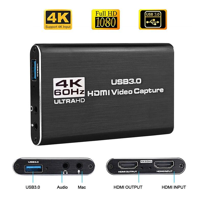 4K HDMI к USB 3,0 карта захвата видео ключ 1080P 60fps HD видео рекордер захват для OBS захвата игры захвата карты Live