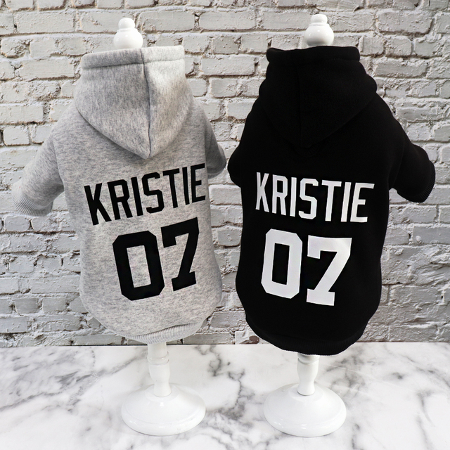 Custom Dog Hoodies Large Dog Clothes Personalized Pet Name Clothing French Bulldog Clothes for Small Medium Large Dogs XS-6XL 3