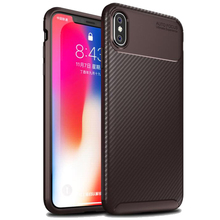 phone case FOR:iphone 6 6s 7 8 X XS XR MAX plus Beetle TPU Shell Carbon Fiber Anti-fall Set Business Mobile
