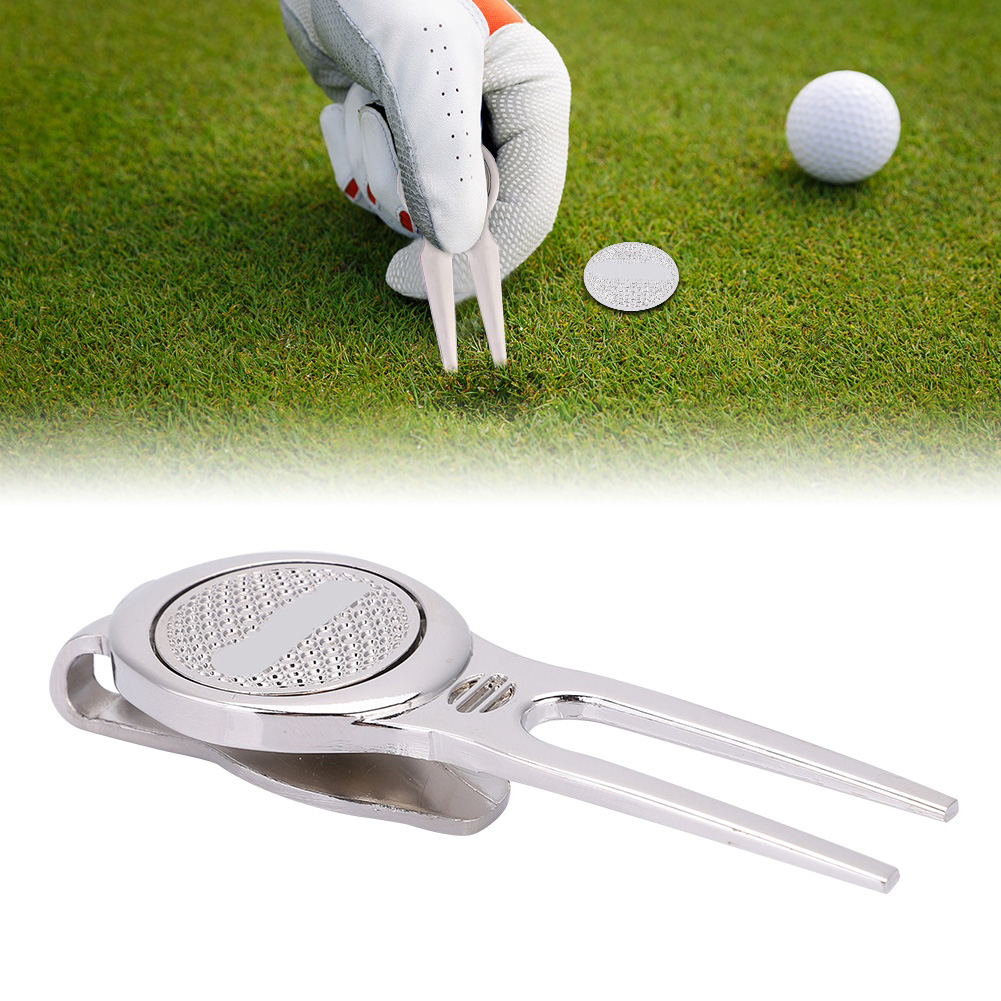 Free Shipping Golf Marker Pitch Mark Divot Repair Tool Golf Accessories Pitchfork Golf Training Aids Golf Divot Repair Tool