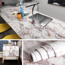 Smooth Marble Waterproof Wallpaper PVC Self Adhesive Wall Sticker for Kitchen Vinyl  Decorative Cabinet Contact Paper Home Decor