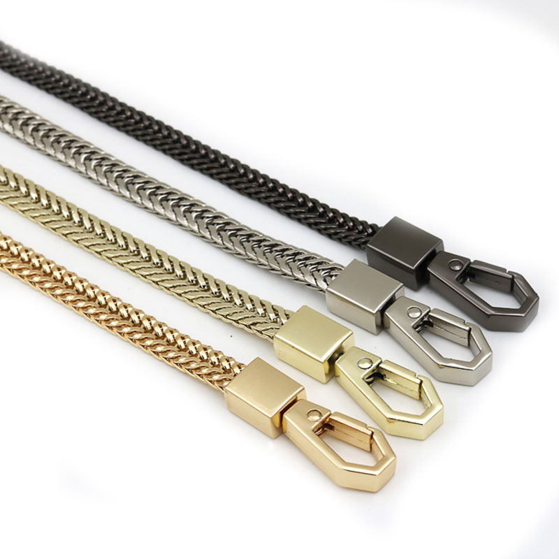 100-120cm Handbag Metal Chains Bag DIY Purse Chain Buckle Shoulder Bags Straps Handbag Handles Bag Parts Accessories Gold Silver