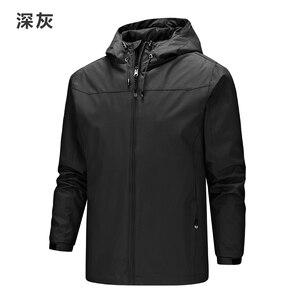 Image 2 - 2019 Homme מעיל גברים מעילים חדשים בתוספת גודל S 5XL מוצק צבע סלעית דק מעיל מעיל רוח windproof עמיד למים חיצוני גברים