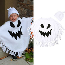 Baby Boy Toddler Kids Halloween Clothes Ghost Costume Cloak Rob Hat Fancy Party Costume