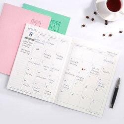 Notatnik Agenda dziennik z terminarzem spotkanie książka dziewczyna szkoła papiernicze miesięczny Plan dostarcza NC99 w Planery od Artykuły biurowe i szkolne na
