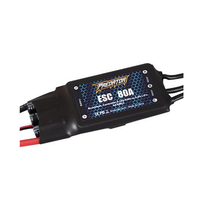 FMS Predator 80A Brushless ESC Electronic Speed Controller Upgraded 5V 5A Switch Mode XT60 For FPV RC Airplane Spare Part