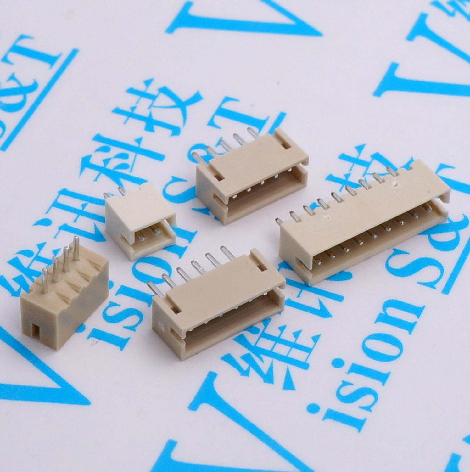 20pcs MICRO JST <font><b>Connector</b></font> <font><b>1.5MM</b></font> Pitch pin header 2P/3P/4P/5P/6P/7P/8P/9P Straight needle FOR PCB BOARD ZH 1.5 image