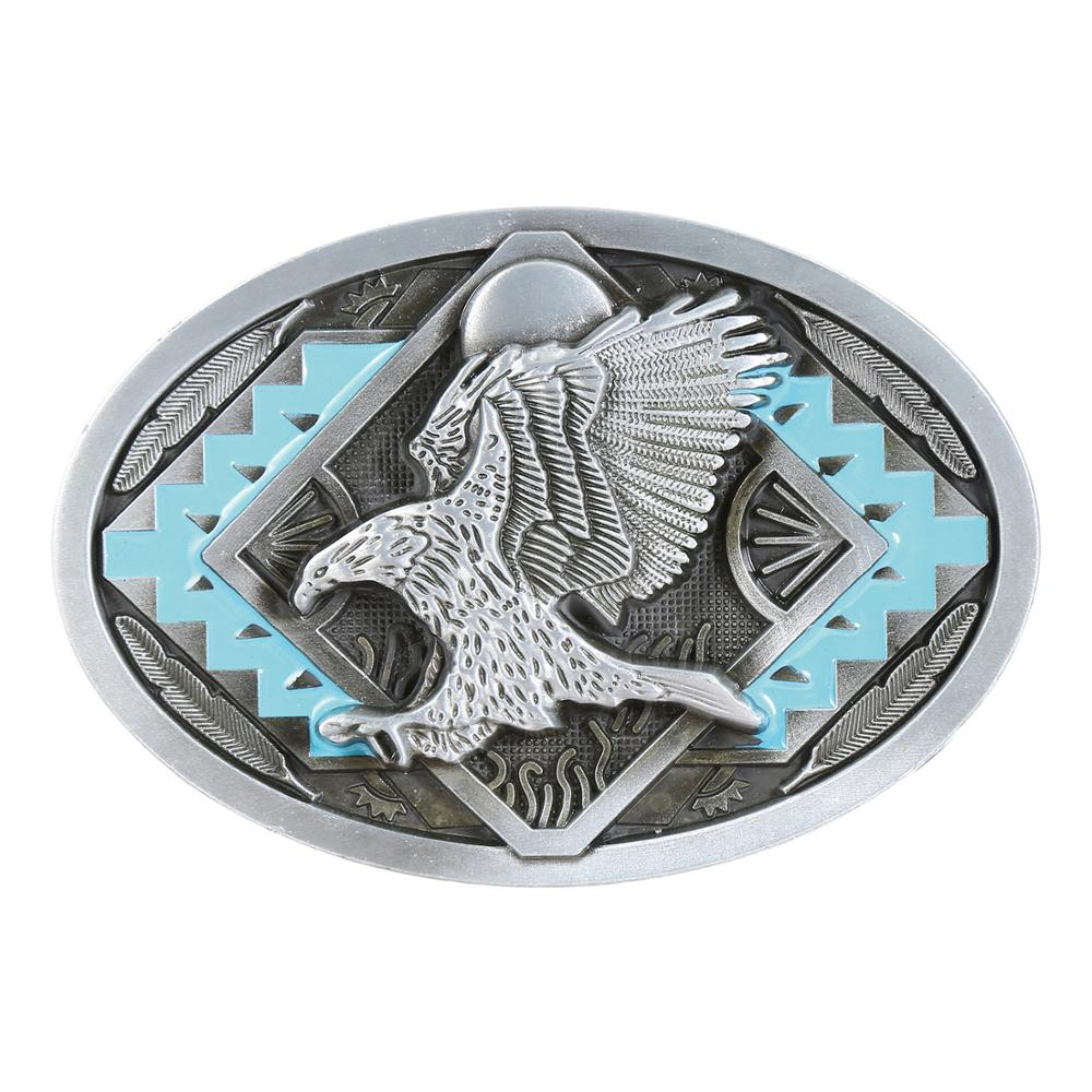 Fashionable Eagle Belt Buckle Men's Western Jeans With Accessories For 4CM Wide Belt