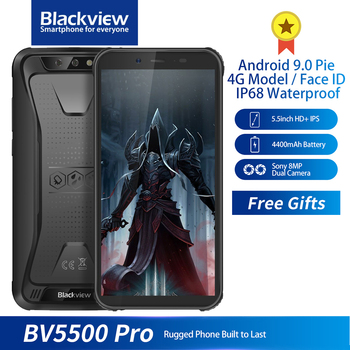 Перейти на Алиэкспресс и купить Blackview BV5500 Pro IP68 прочный водонепроницаемый смартфон 3 ГБ + 16 Гб 5,5 дюймэкран 18:9 4400 мАч Android 9,0 NFC Face ID Dual SIM телефон