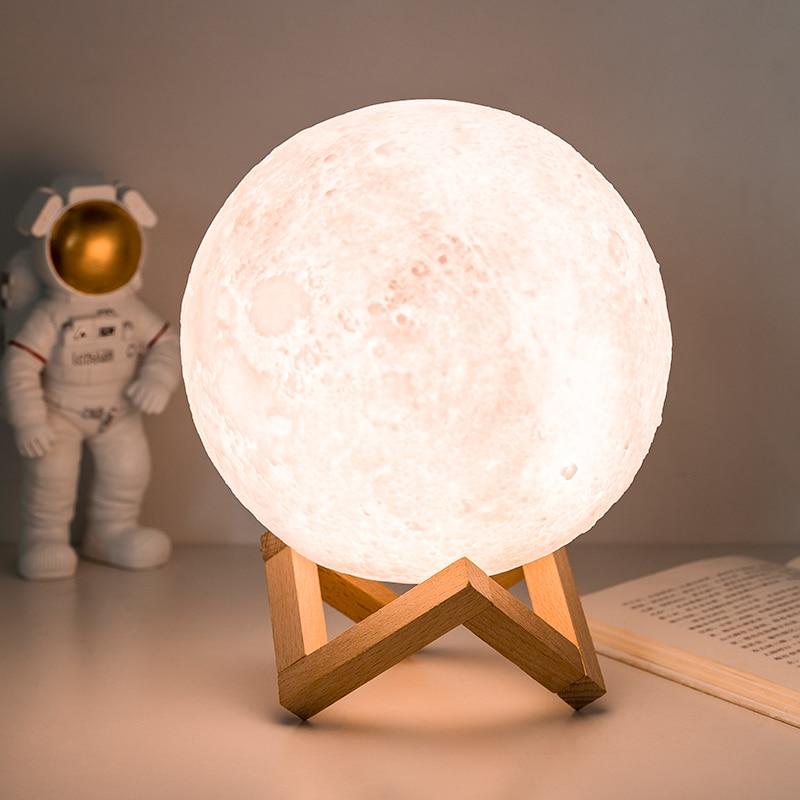 Moon Planetarium Lamp USB 3D Light Fixtures For Kids Bedroom Decoration