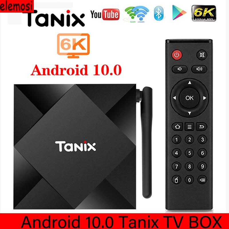 2020 Tanix TX6S Android 10 Smart TV BOX Allwinner H616 QuadCore TVBox H.265 6K Google Player Netflix Media Player