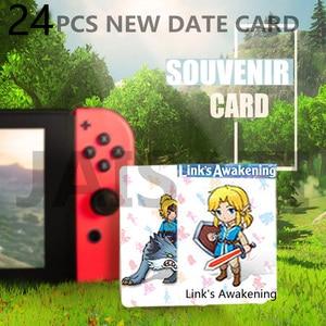 24 stücke NTAG215 Zelda NFC Karte 20 Herz Wolf Revali Mipha Daruk Urbosa Für amiibo Spiel die Legende von Atem der wilden NS Schalter