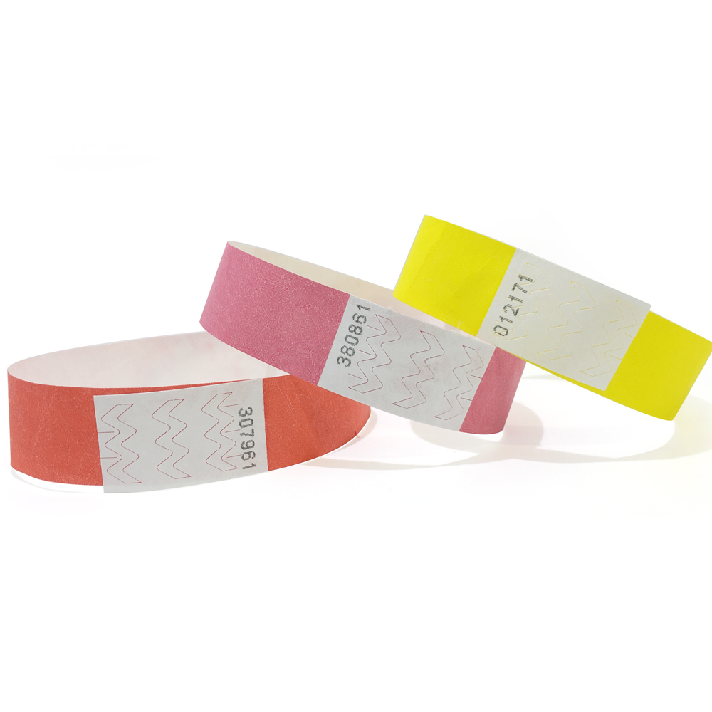 100 Plain Tyvek Event Wristbands Numbered Paper Like Security Festivals Parties