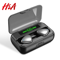 H&A Bluetooth 5.0 Wireless Earphone with 2000mAh Charging Case Waterproof Sport Wireless Headphones TWS Stereo Headset Deep Bass