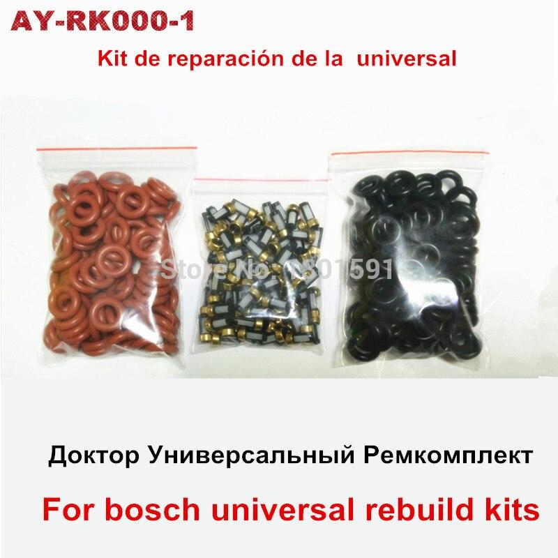 tasuta saatmine 100 tükki. Kütuse sissepritse asendamiskomplektide paranduskomplektid universaalsed filtri vitonihendid Bosch EV1.0 puhaste komplektide jaoks