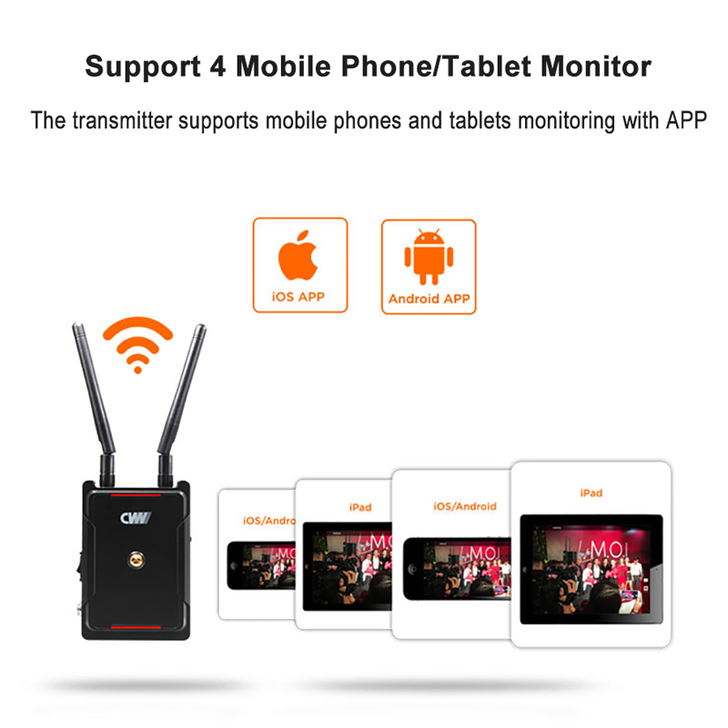 Image 4 - CVW SWIFT 800 800ft Wireless Video Transmission System HDMI HD image Wireless Transmitter Receiver Support smartphone MonitorPhoto Studio Accessories   -
