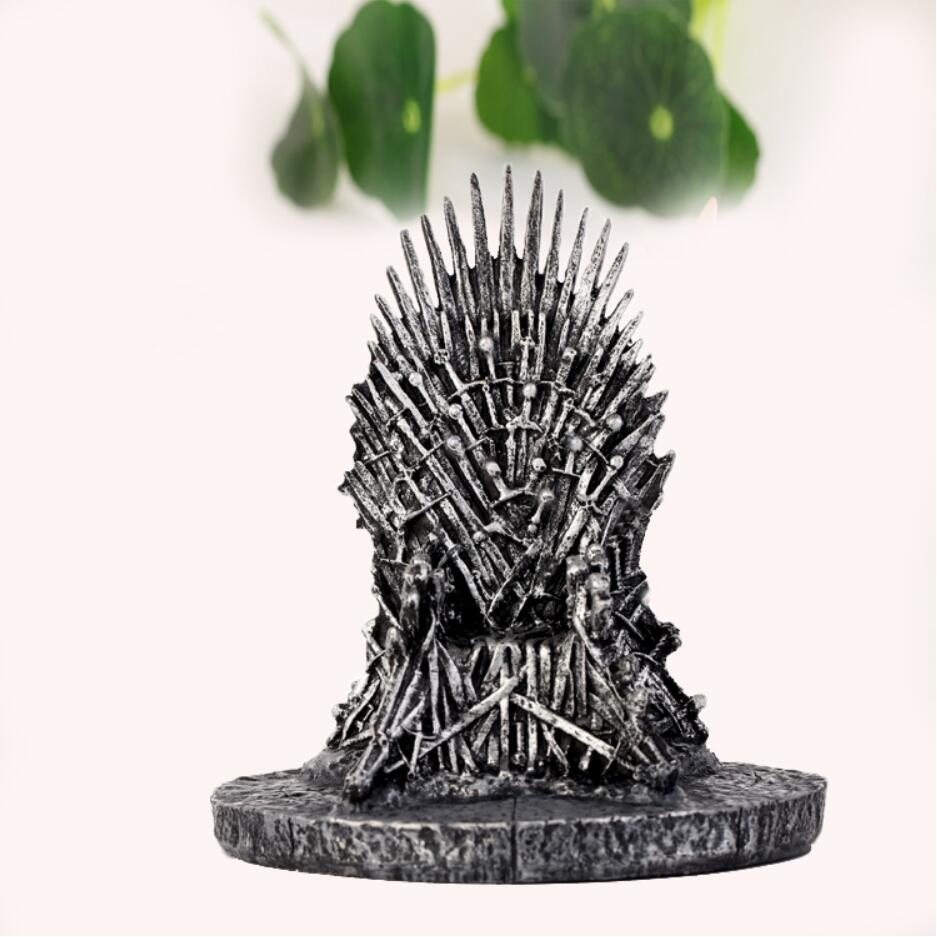 17cm Game Of Thrones Sword Action Figure Toys Chair Model Toy Song Of Ice And Fire The Iron Throne Table Christmas Gift image