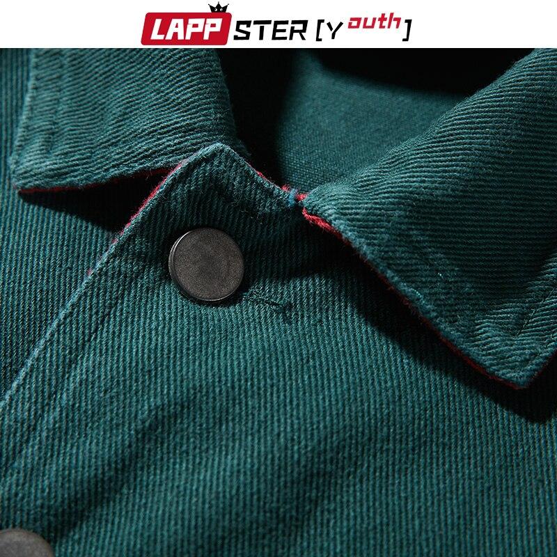 LAPPSTER уличная однотонные джинсовые куртки для мужчин джинсовые пальто 2019 осень джинсовая куртка Мужская винтажная цветная куртка-бомбер ве...