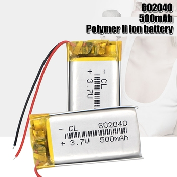 602040 3.7V 500mAh Lithium Polymer li-ion Rechargeable Battery For GPS MP3 MP4 MP5 Car DVR Tachograph headphone li ion cell image