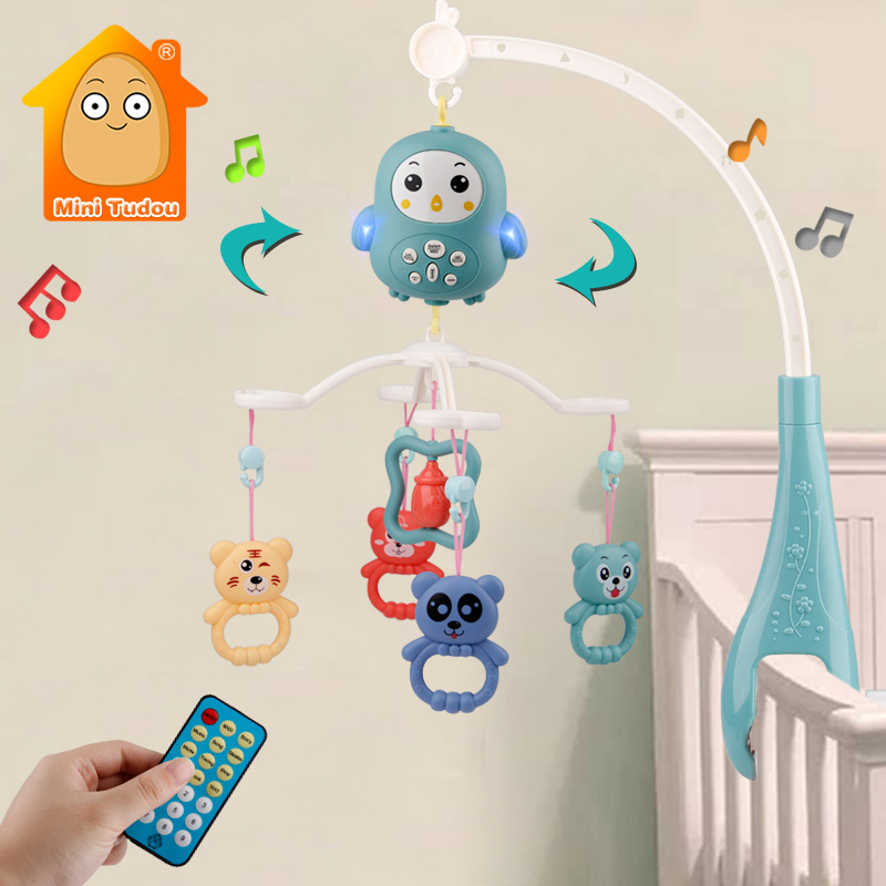 Baby Crib Mobiles Rattles Music Educational Toys Bed Bell Carousel For Cots Infant Baby Toy 0-12 Months For Newborns